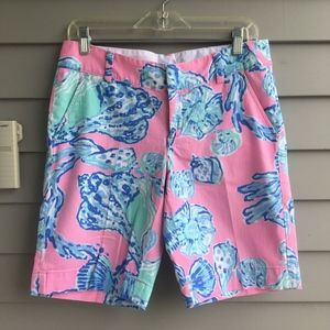 LILLY PULITZER Pink Pout Chipper Short Sz.4